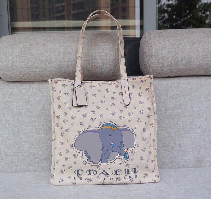 風格COACH包 全新正品 69250 新款小飛象迪士尼限量款購物包 手提單肩  全場特價 附購買證明