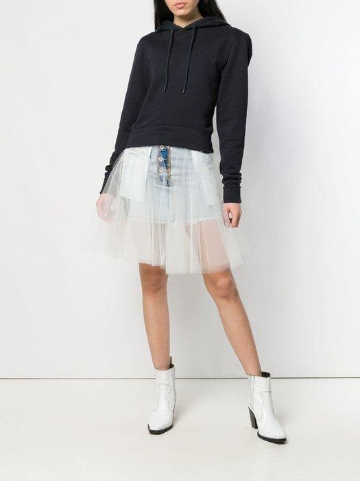 CC Collection 代購 Unravel Project 反穿丹寧牛仔短版白紗裙