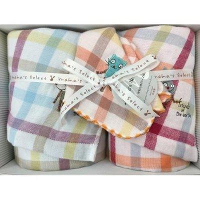 FZB 016 預購 KONTEX 日本製 毛巾禮盒 2P 毛巾34×80cm 方巾28×28cm 格紋