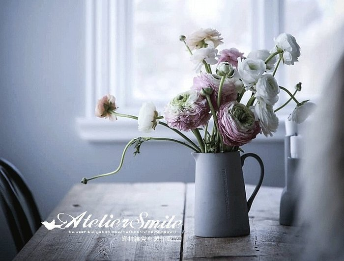 [ Atelier Smile ] 鄉村雜貨 北歐風 簡約純色 陶瓷花瓶  家居裝飾 花藝 擺設 (現+預)