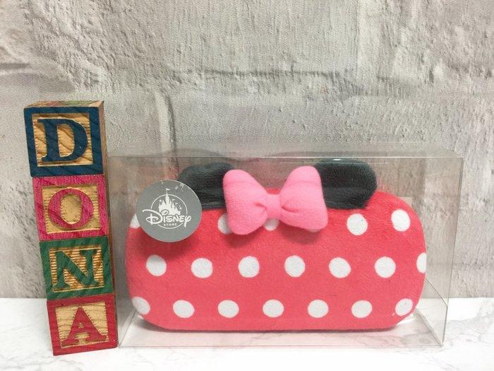 【Dona日貨】日本迪士尼store限定 米老鼠米妮經典配色 眼鏡盒/收納盒(附眼鏡擦拭布) B33