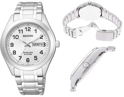 日本正版 CITIZEN 星辰 REGUNO KM1-016-13 男錶 手錶 太陽能充電 日本代購