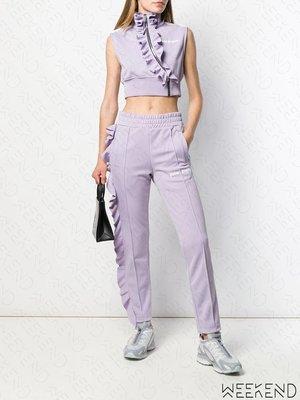 【WEEKEND】 PALM ANGELS Ruffle Logo 波紋 短版 無袖 拉鍊 上衣 紫色 19秋冬