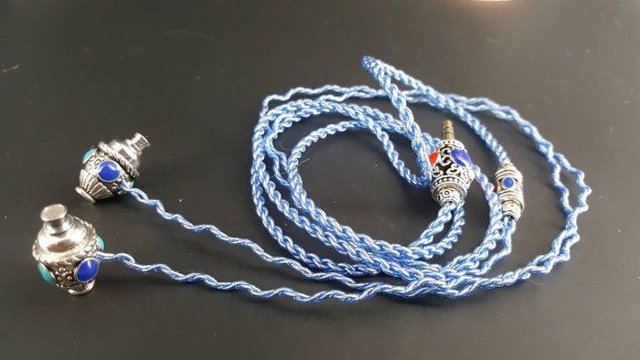 「Cecile音樂坊」藏銀系列、純絧 (寶石)成品線需自行焊上插針、二色可選,特色風格 與眾不同