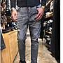 韓國製黑灰水洗破牛仔褲