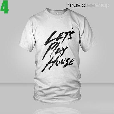 【電音風格類型】House【浩室】【Let's Play House】白色短袖T恤(男生版.女生版皆有) 新上市專單進貨