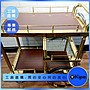 KIPO- 雙層不鏽鋼手推酒水車 餐車- NFA0171G4...