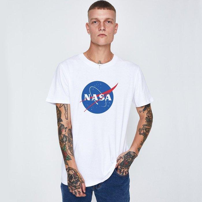 NASA Logo 進口短袖T恤 白色 美國太空總署 亞版