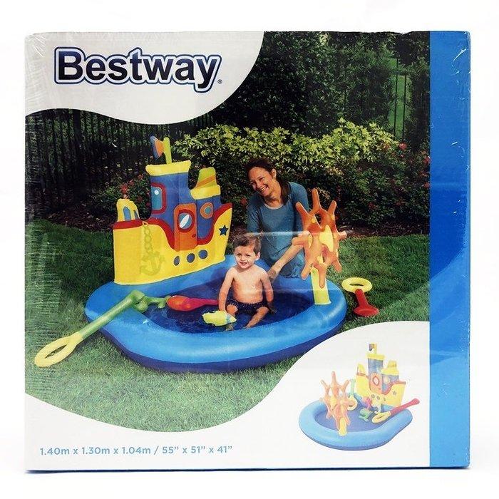 【阿LIN】Bestway 34519A拖船游戲水池