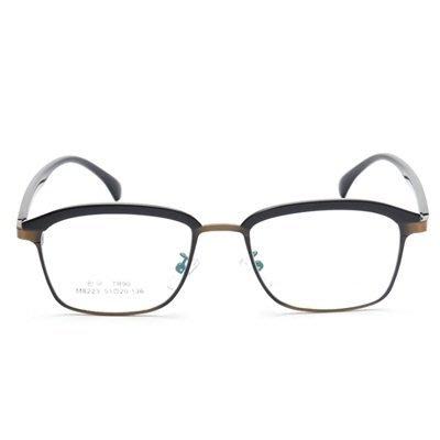 眼鏡 框 方框 鏡架-新款時尚輕盈百搭男女平光眼鏡5色73oe41[獨家進口][米蘭精品]