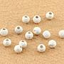 蠟媽銀坊-925純銀4mm磨砂珠-DIY蠟線可用純銀珠