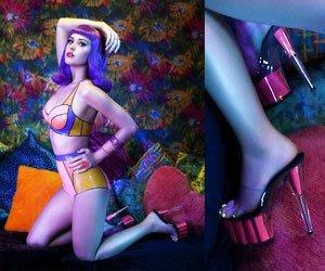 好萊塢明星凱蒂派芮穿搭款~螢光紅防水台跟鞋~(歐美明星最愛~(鋼管舞/車模/國標/夜店/艷舞/cosplay)~美國空運 Pleaser精品高跟鞋