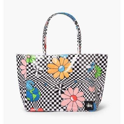 ☆ETW☆【一中店】STUSSY W Checker Vinyl Wrapped Tote Bag 手提袋 托特包 現貨