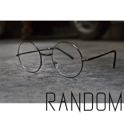 【RANDOM】【復古造型圓框平光眼鏡...