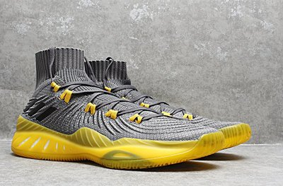 D-BOX  ADIDAS CRAZY EXPLOSIVE PRIMEKNIT BOOST 灰黃 高筒 編織 籃球鞋