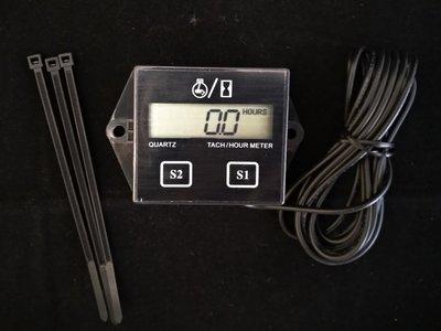 感應式轉速表  ; Hour meter ; 引擎工作時數表 ;割草機 農機定時換機油保養 引擎轉速表