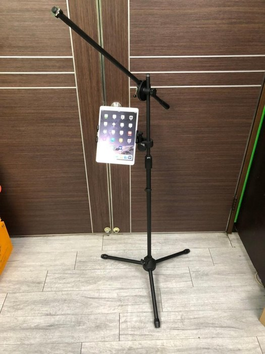 【六絃樂器】全新 Stander IP-10-2 手機架 平板架 / 連接鼓架 譜架 麥克風架