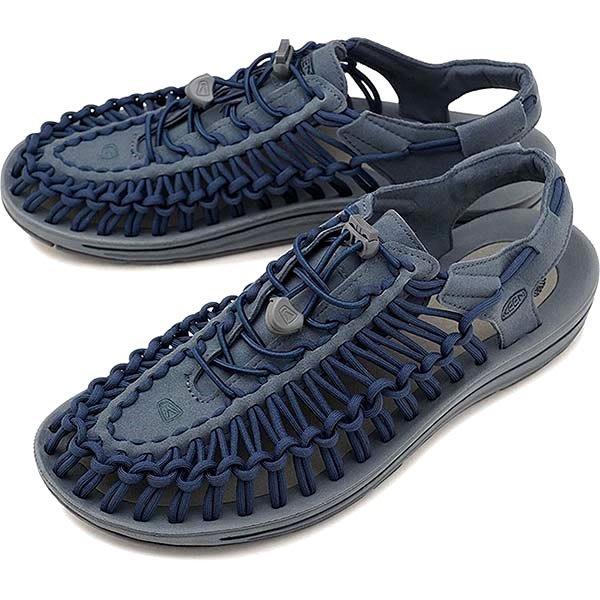 =CodE= KEEN UNEEK FLAT SANDALS 編織彈性綁繩涼鞋(灰藍) 1019935 戶外 拖鞋 男