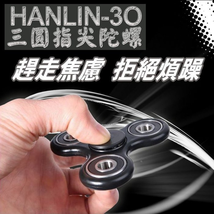 公司貨 釋壓 新聞有報 醫生證實 HANLIN-3O 三圓 指尖陀螺 Hand spinner 療愈 減壓 舒壓