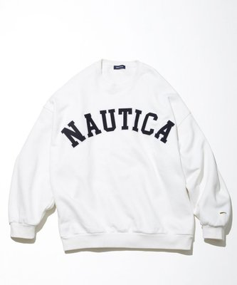 TSU 日本代購 NAUTICA SWEAT LETTERED CREW 大學T 春夏新款 厚棉 字體 長谷川昭雄