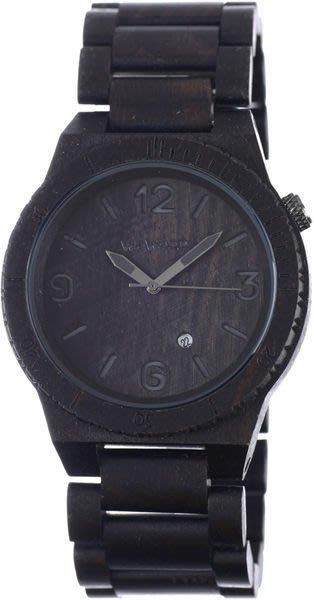 【紐約范特西】現貨 義大利 We Wood WEWOOD ALPHA BLACK 木頭錶 黑色 大圓錶 有日期 Q版數字