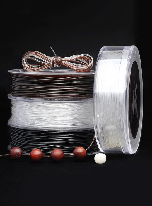 Lissom韓國代購~透明手串彈力線手鍊線水晶線串珠繩穿佛珠線金剛星月菩提文玩繩子