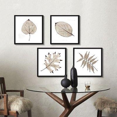 C - R - A - Z - Y - T - O - W - N 小清新復古樹葉裝飾畫客廳沙發牆掛畫植物花卉掛畫簡約掛