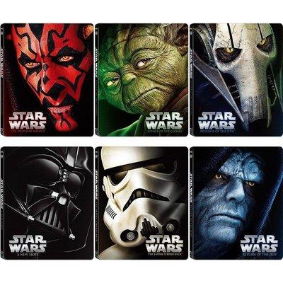 毛毛小舖--限時特價 藍光BD 星際大戰 1-6 Star Wars 日本限量六獨立鐵盒版(中文字幕)