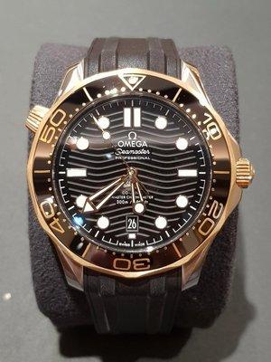 OMEGA 海馬潛水300米系列同軸擒縱42mm 半金膠帶210.22.42.20.01.001