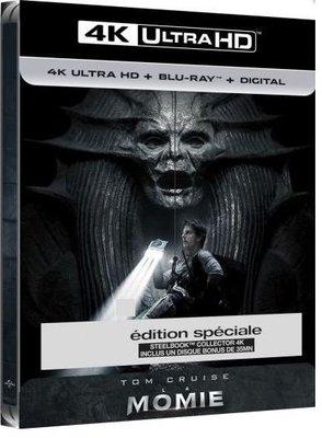 毛毛小舖--藍光BD 神鬼傳奇 4K UHD+BD 限量鐵盒版(中文字幕) The Mummy(2017) 湯姆克魯斯