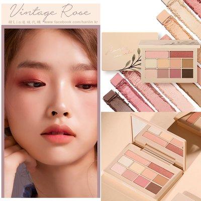 【韓Lin連線代購】韓國 MOONSHOT -HONEY COVERLET 10色眼影盤 復古玫瑰色系/蜂蜜棕色系