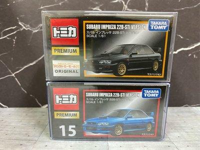 TOMICA tomy多美小汽車 PREMIUM 黑盒 15 Subaru Impreza 22b 硬皮鯊 速霸陸