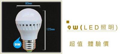 時尚布藝 平價裝潢網  9W LED 燈泡 175元(750流明) 超越 省電燈泡 21W (體驗 照明 全台最便宜)
