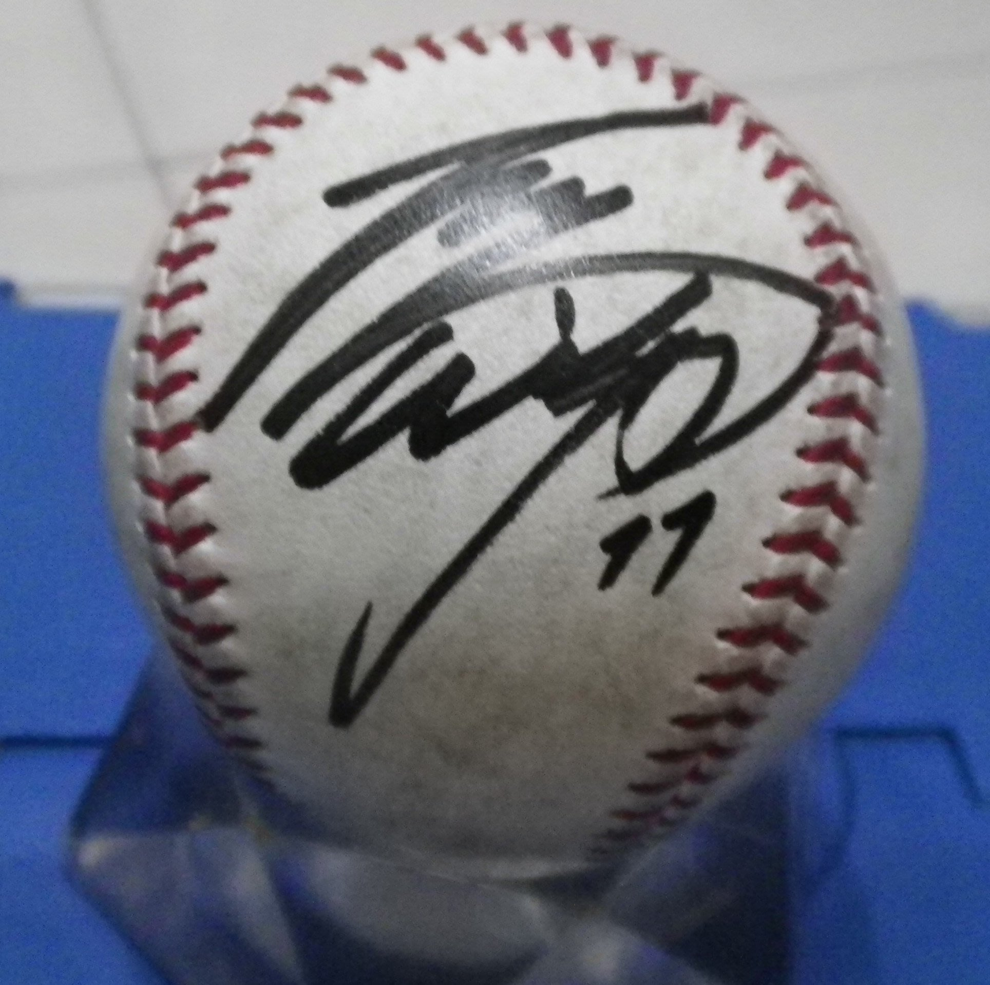棒球天地--北海道火腿 二刀流 大谷翔平 簽名日本職棒比賽球.字跡漂亮..空運來台
