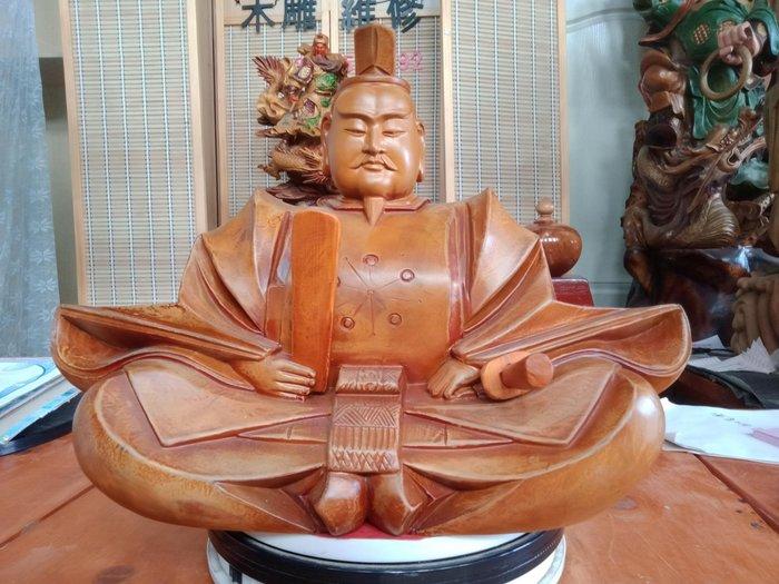 日本天神 樟木雕刻 作者:柯金仲