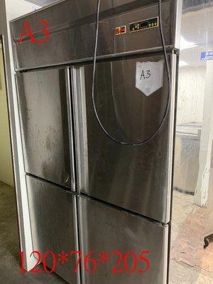 【見康食品】二手設備-現貨出售-(A3)不鏽鋼四門冰箱(另售刨冰機、雪花粉、仙草粉、芋圓預拌粉、創業、加盟連鎖)