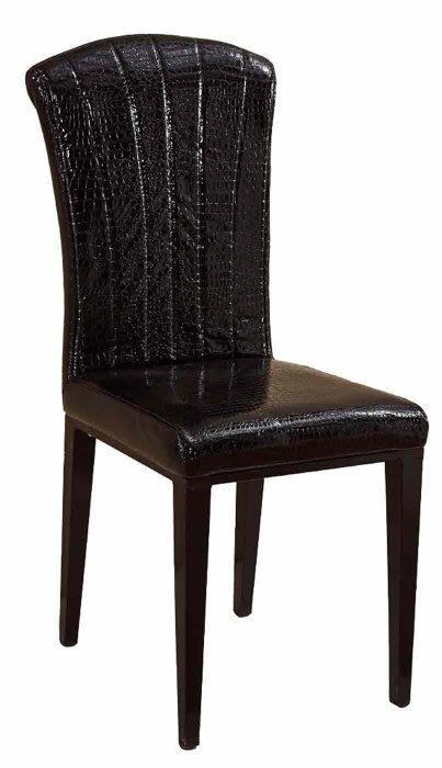 【DH】商品貨號N988-3商品名稱《芬緹史》黑皮餐椅/餐桌另計。備有白皮餐椅另計。簡約雅緻經典。主要地區免運費