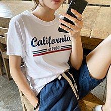 Bellee 正韓 美式1981字母短袖棉質上衣   (2色)【60659】預購