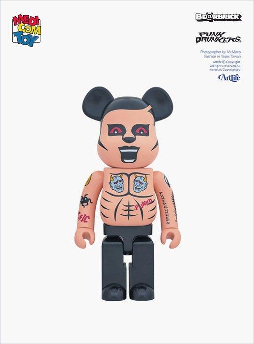 Artlife @ MEDICOM BE@RBRICK 1000% PUNK DRUNKERS あいつ TATTOO