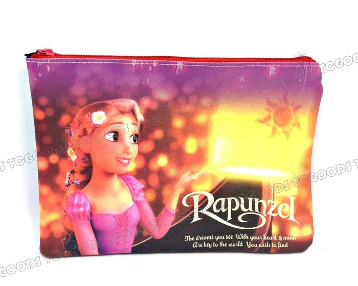 【台中好物】長髮公主 Rapunzel 星光 手拿包 化妝包 手機包 收納包 盥洗包