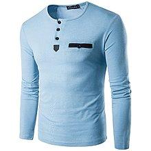 新款春季男士圓領修身時尚多色百搭打底衫長袖T恤韓版時尚男