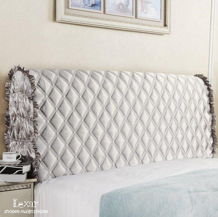 現代簡約床頭罩床頭套皮布藝夾棉床頭防塵保護罩定制床頭罩床頭套靠背套
