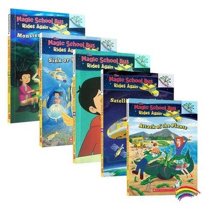 英文原版繪本THE MAGIC SCHOOL BUS RIDES AGAIN Branches 學樂大樹神奇校車系列5冊6-8歲兒童分級閱讀 內容簡單易懂