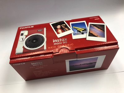 全新行貨 FUJIFILM INSTAX MINI 90 INSTANT CAMERA RED 富士即影即有菲林拍立得底片相機 紅色