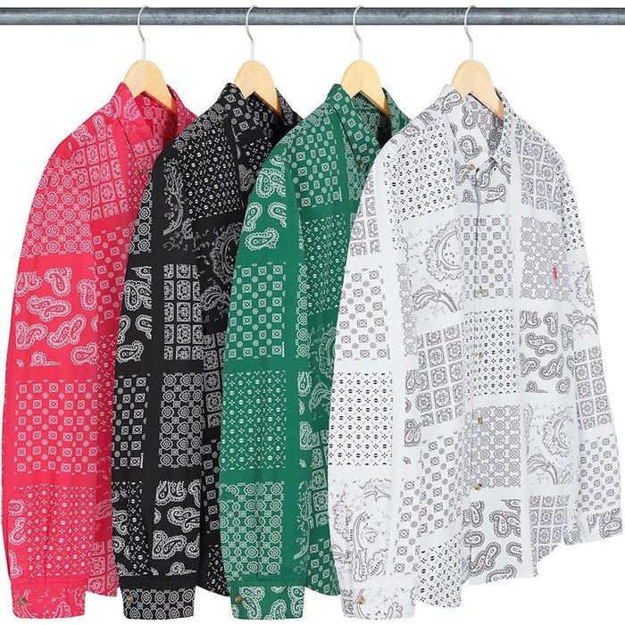 【紐約范特西】預購 SUPREME SS20 Paisley Grid Shirt 變形蟲 格紋 長袖 襯衫