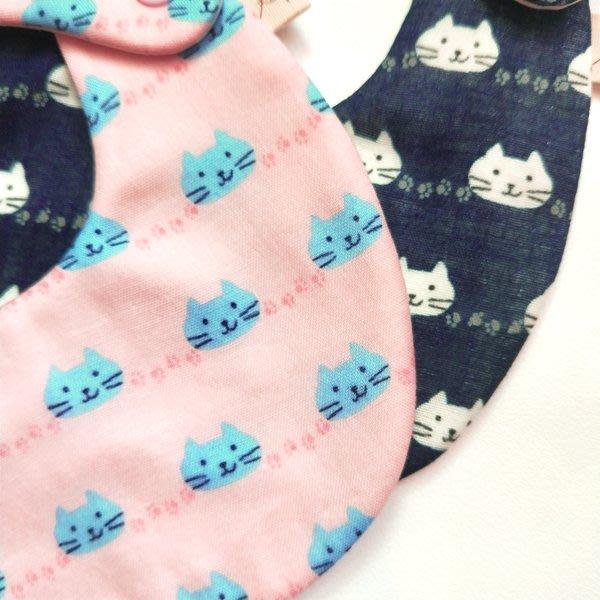 米咕手作 △ 寶寶六重紗 圍兜兜 / 口水巾 / 領巾 |貓咪|