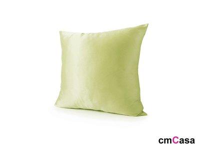 = cmCasa = [4554]春漾簡約設計 青蘋翠綠緞面抱枕套 多尺寸唯美新發行
