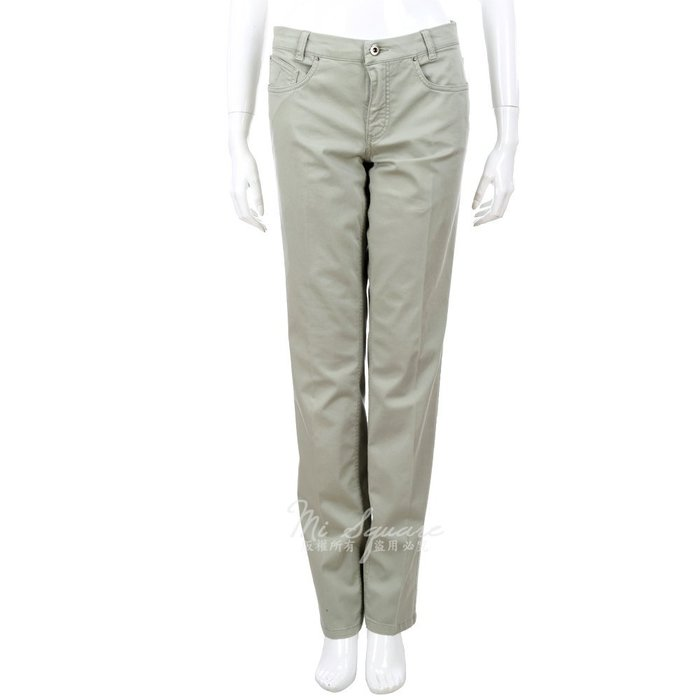 米蘭廣場 FABIANA FILIPPI 灰綠色休閒直筒長褲 1320198-36