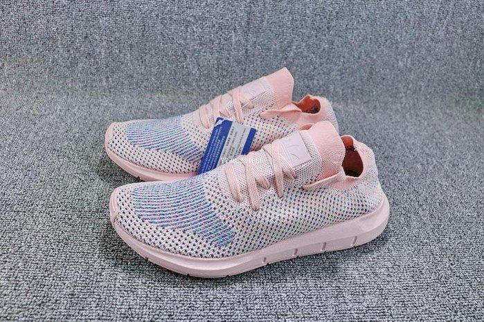 ADIDAS SWIFT RUN 粉色 編織 透氣 休閒運動慢跑鞋 女鞋 CG4134