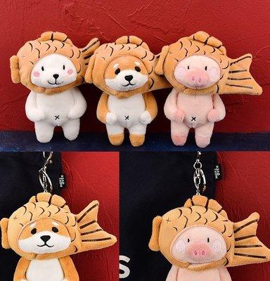 鯛魚燒柴犬吊飾 掛件包包配飾鑰匙圈扣娃娃掛件